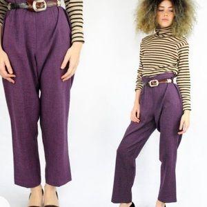 🌼Classic Plum Vintage High Waist Trousers